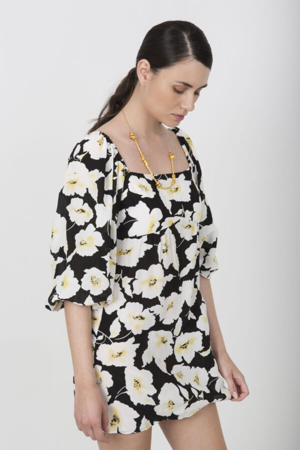 bash-dress-mini-floral-60s