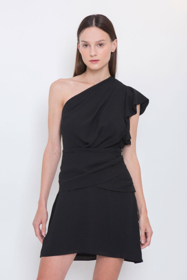 iro-one-shoulder-black-dress-bonzac-matchboxathens