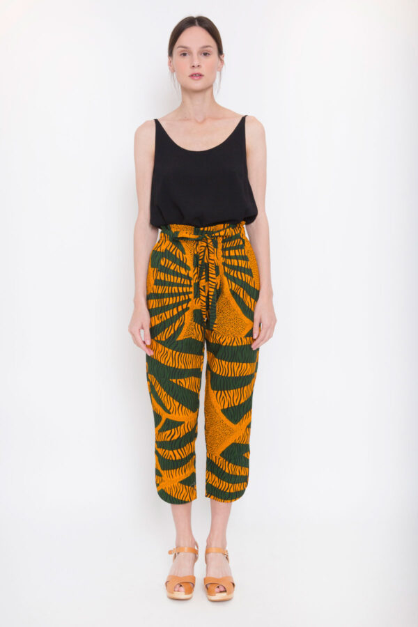 leda-trousers-kimale-orange-green-cropped-matchboxathens