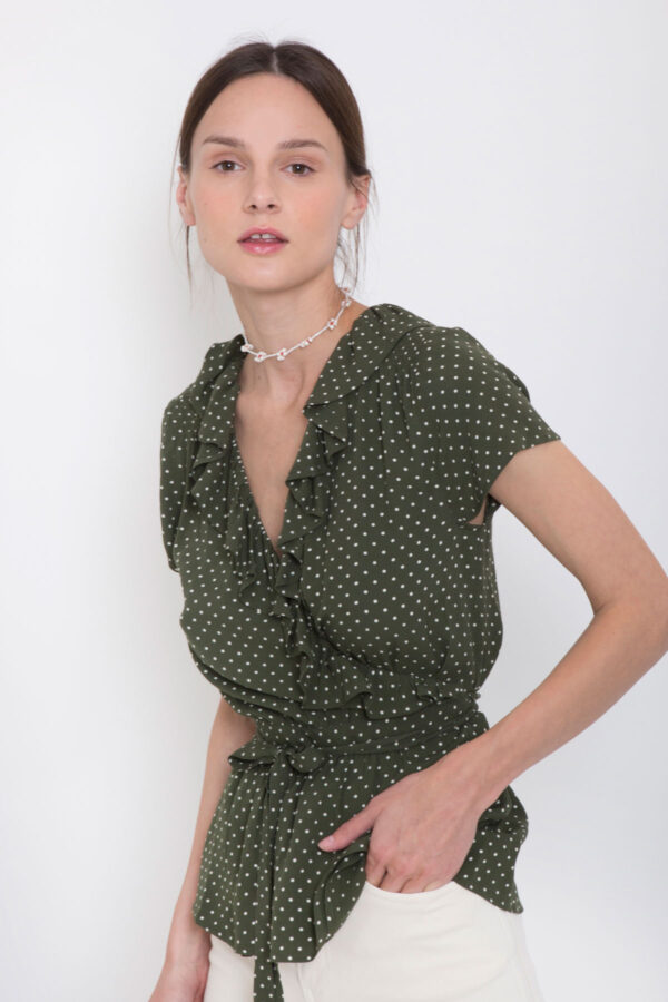 henny-blouse-top-twist&tango-polka-dot-khaki-wrap-matchboxathens