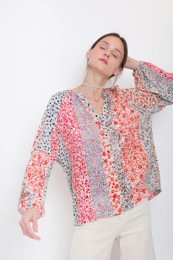 lemone-blouse-shirt-suncoo-floral-long-sleeved-vneck-matchboxathens