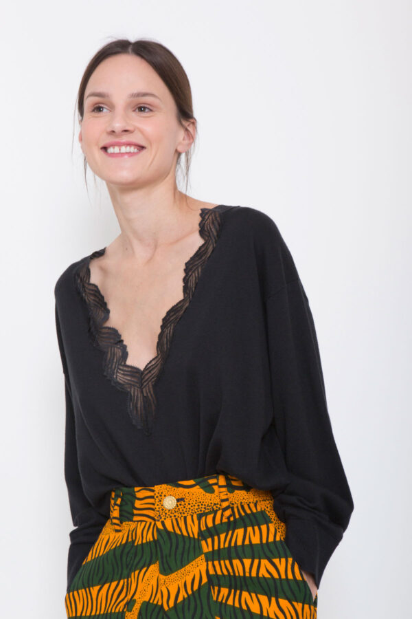 Juny-sweater-top-iro-lace-vneck-matchboxathens
