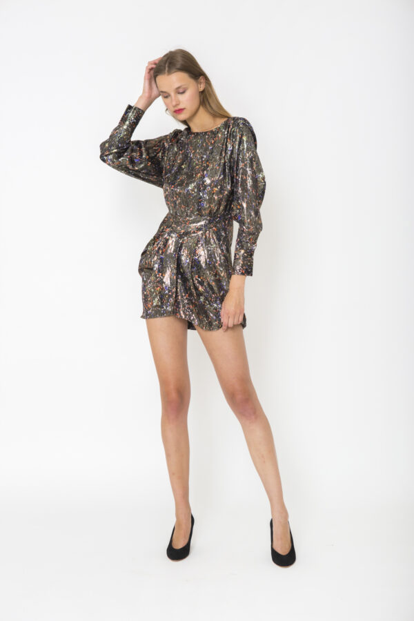 moseny-mini-shimmer-dress-metallic-iro-matchboxathens