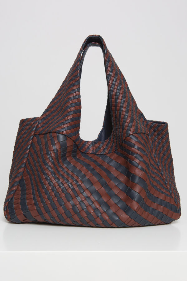 claramonte-blue-navy-bordeaux-leather-weave-matchboxathens