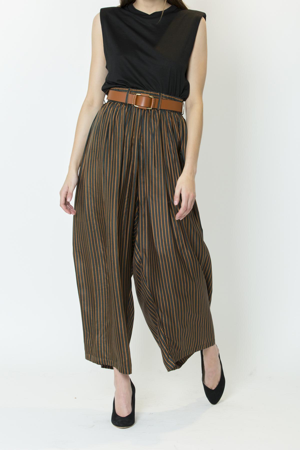 mesdemoiselles-matchboxathens-silk-stripes-volume-pants-green