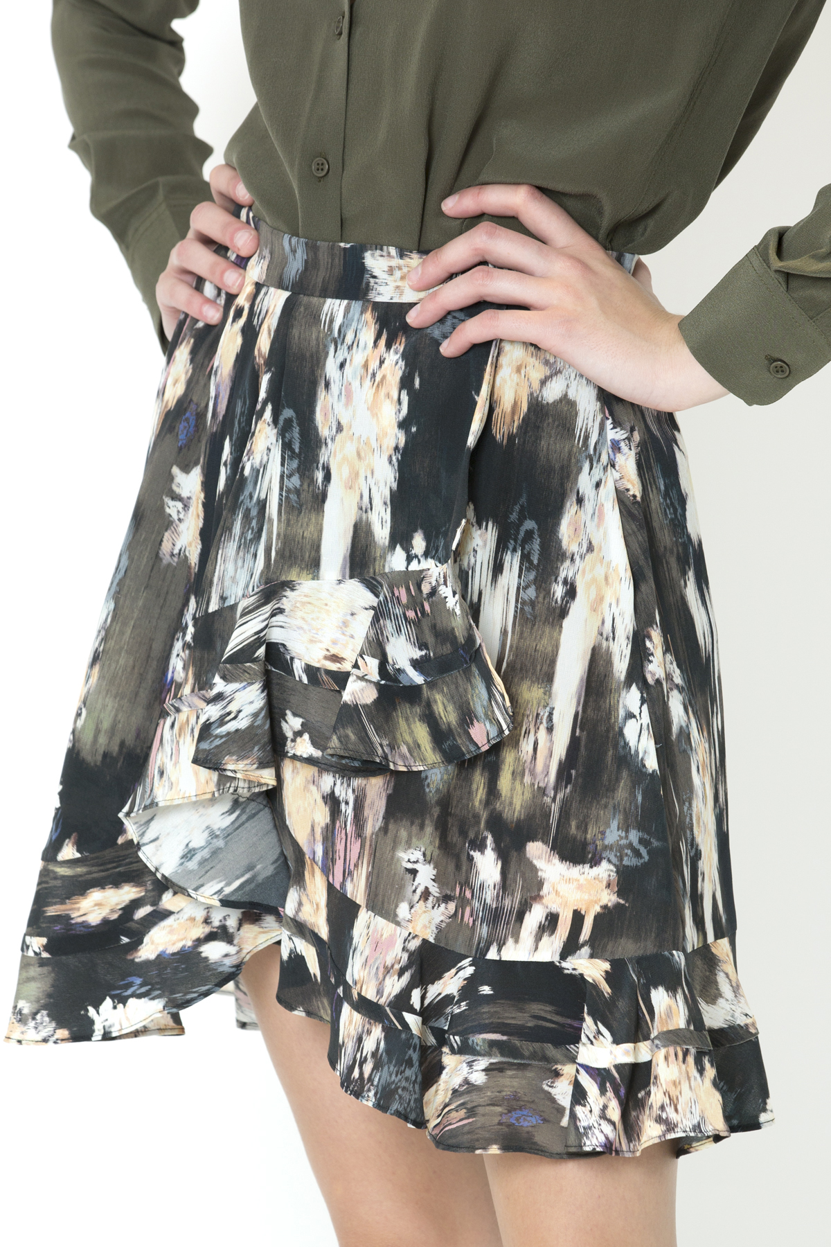 clemire-skirt-black-silk-iro-matchboxathens