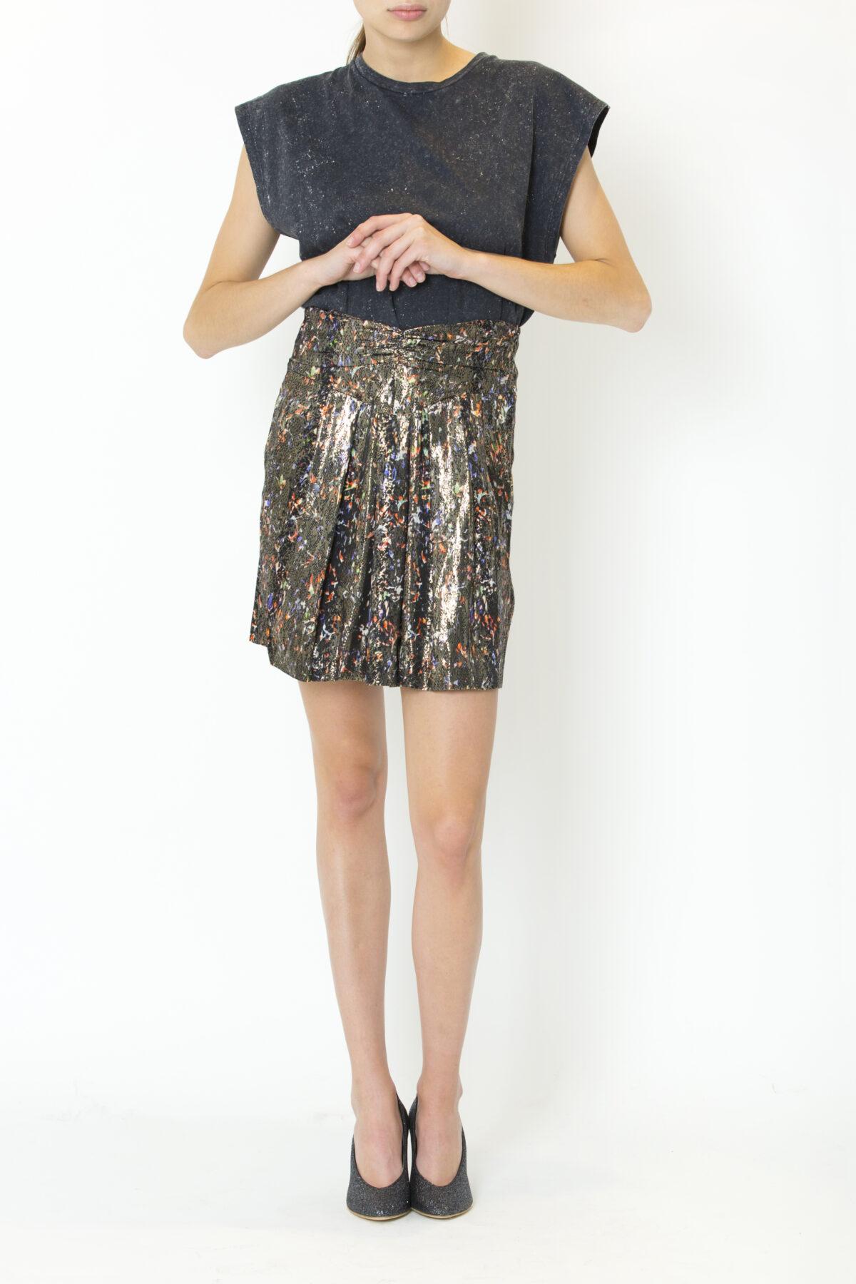 maziar-skirt-silk-iro-metallik-black-matchboxathens