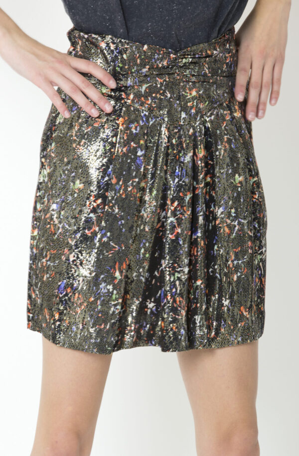 maziar-skirt-silk-iro-metallik-black-matchboxathens