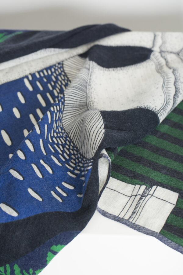 monsieur-blue-green-wool -scarf-inouitoosh-matchboxathens