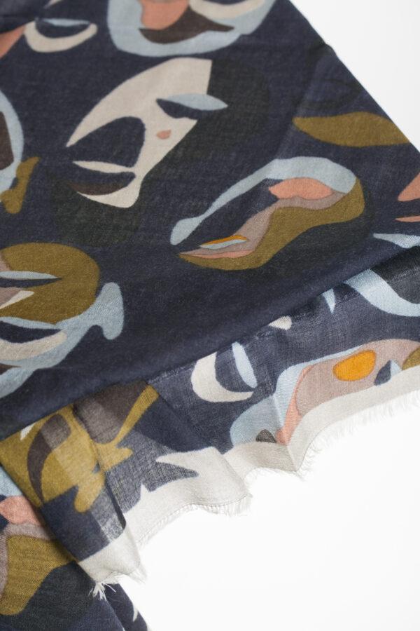 visage-print-scarf-wool-silk-blue-matchboxathens