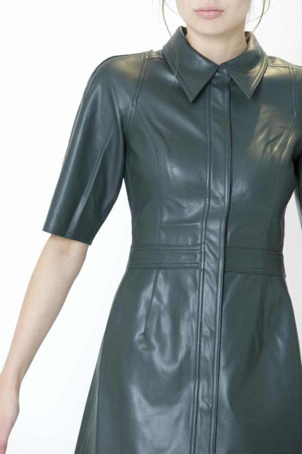carmella-dress-shirt-twist-tango-vegan-leather-forest-matchboxathens