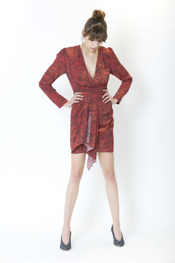 maitri-dress-iro-red-zebra-matchboxathens