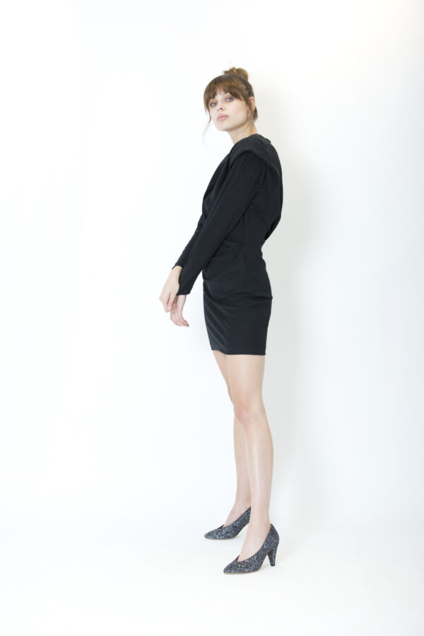 beckett-iro-cotton-black-dress-matchboxathens