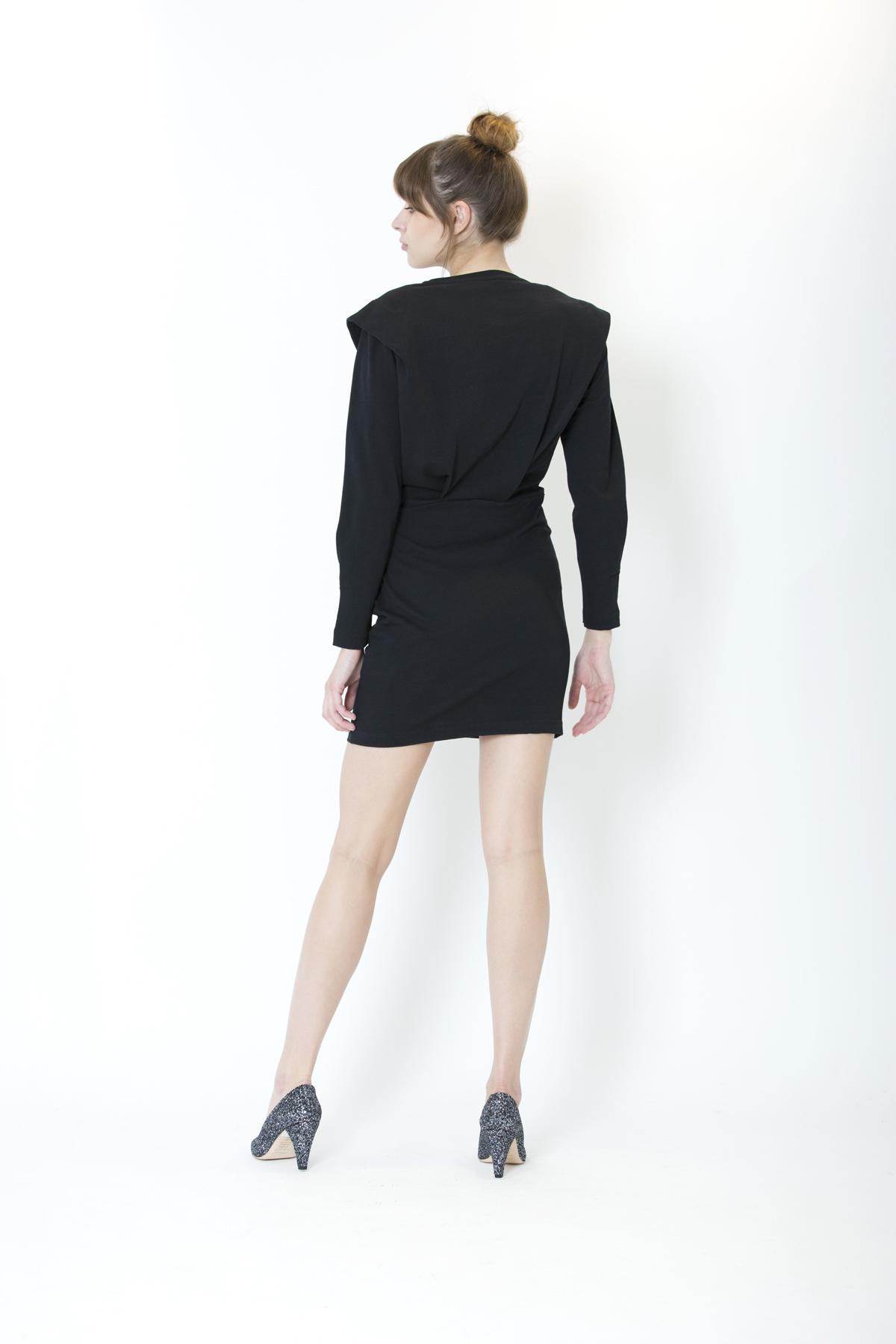 beckett-iro-cotton-black-dress-matchboxathens