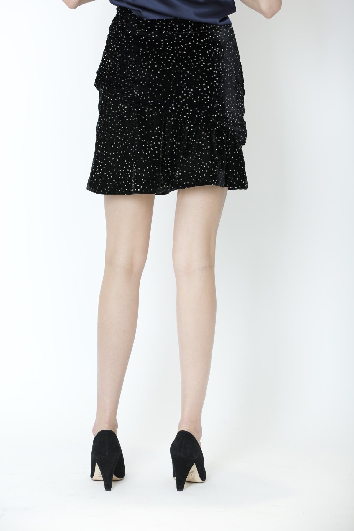 joleta-velvet-mini-skirt-dotted-metallic-iro-matchboxathens