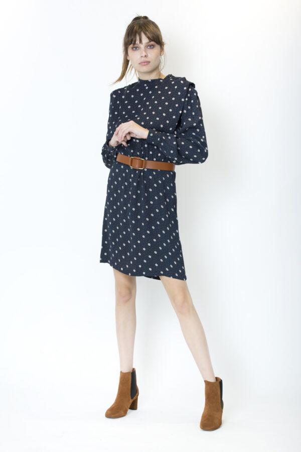 claro-annia-dress-sessun-blue-viscose-pleats-matchboxathens