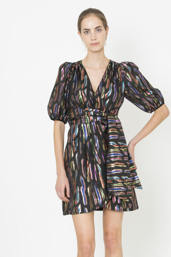 Uniforme-Frances-Foil-Dress
