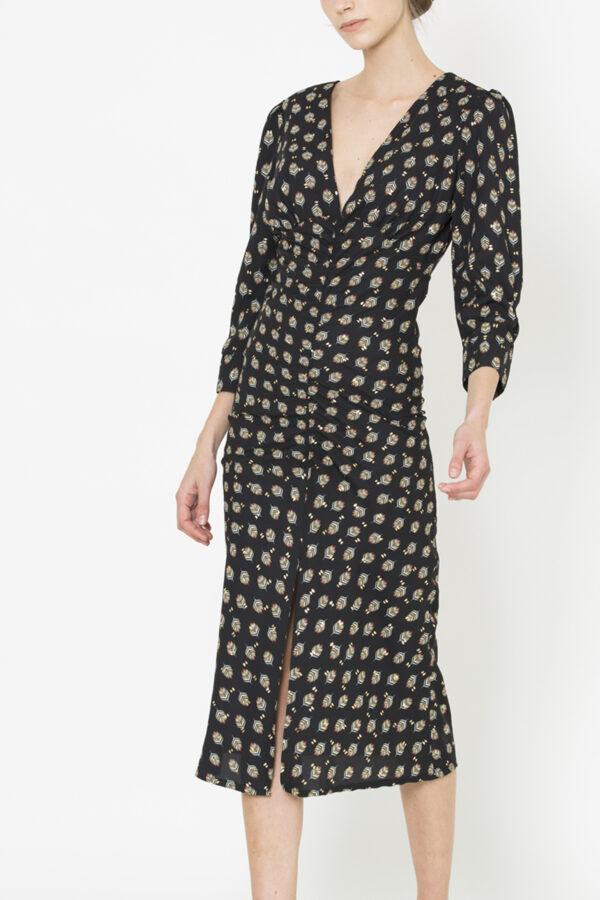 Uniforme-Agnes-Leaf-Print-Dress