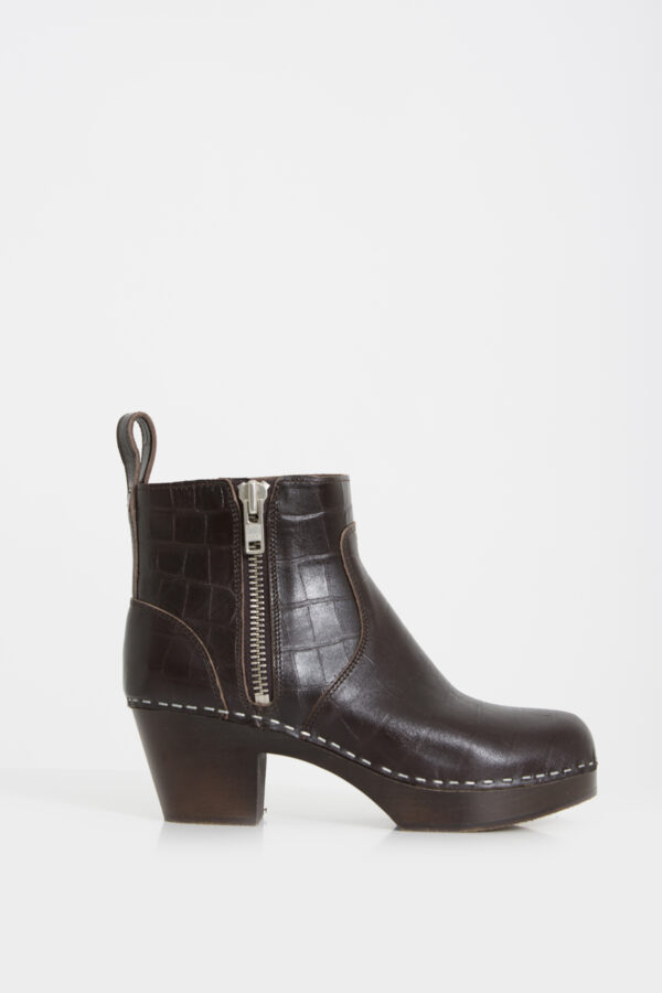 zip-it-amy-booties-croc-dark-brown-leather-swedish-hasbeens-matchboxathens