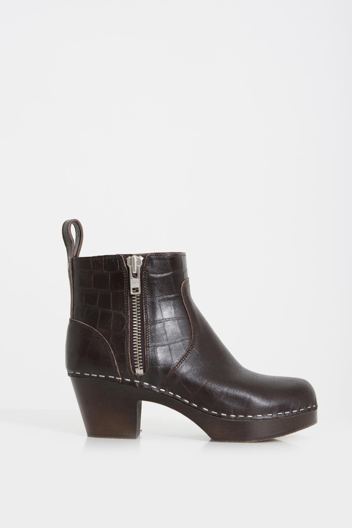 zip-it-amy-booties-croc-dark-brown-leather-swedish-hasbeens-matchboxathens