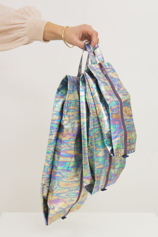 3d-zip-set-pouches-rainbow-metallic-eco-friendly-recucled-nylon-baggu-matchboxathens