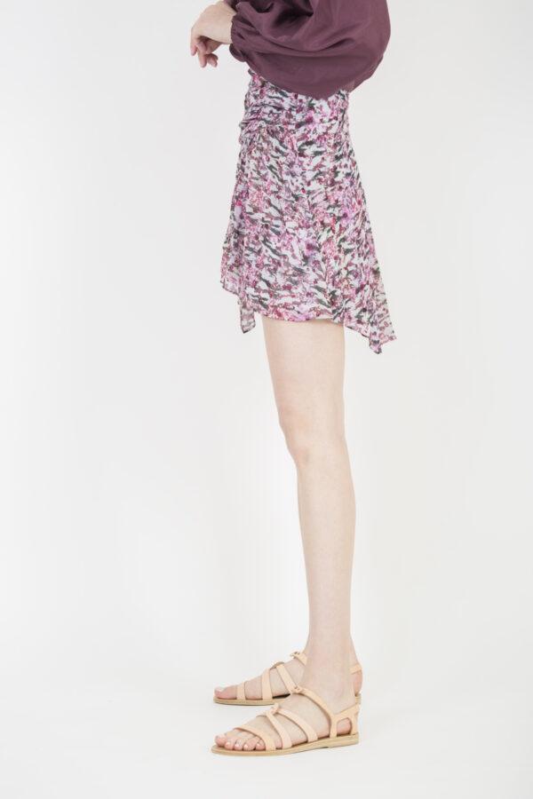 lofo-pink-print-skirt-mini-viscose-iro-matchboxathens