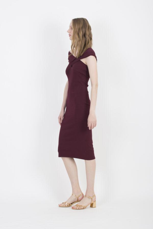 bronte-iro-elastic-dress-burgundy-matchboxathens