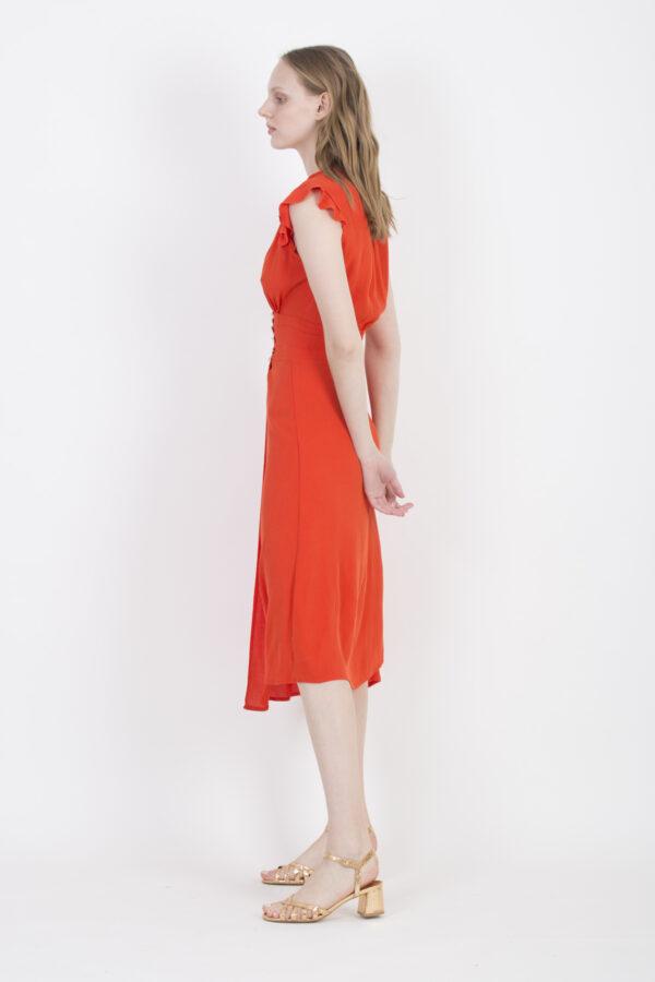 sally-red-dress-viscose-slit-frills-uniforme-athens-matchboxathens