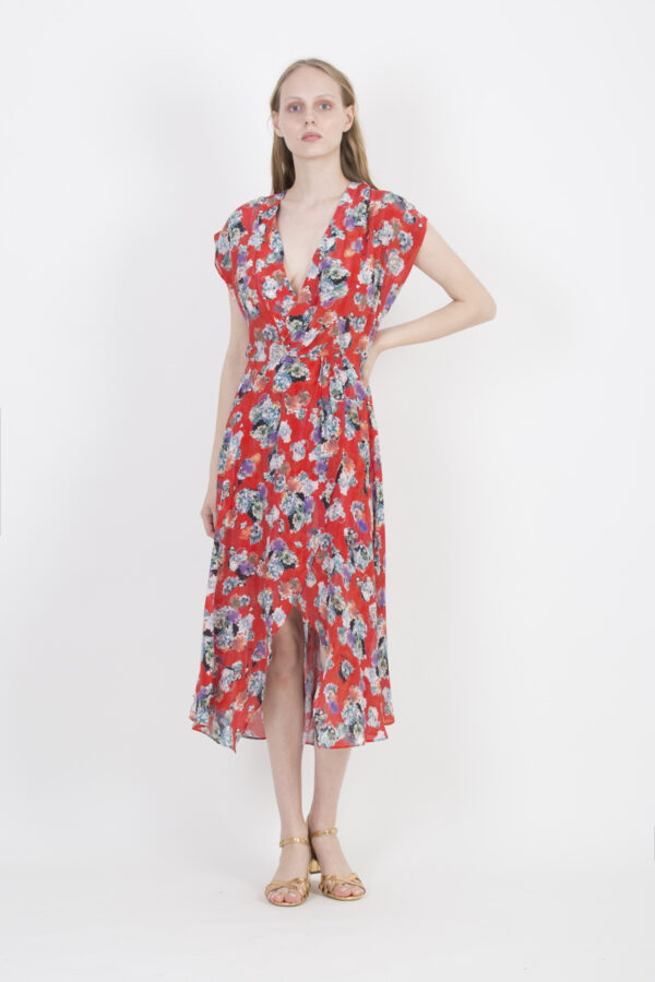 plauna-red-dress-floral-silk-iro-paris-matchboxathens