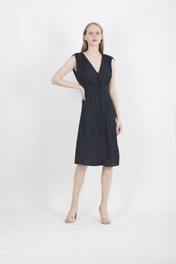isola-bella-navy-dress-jacquard-buttons-sessun-matchboxathens