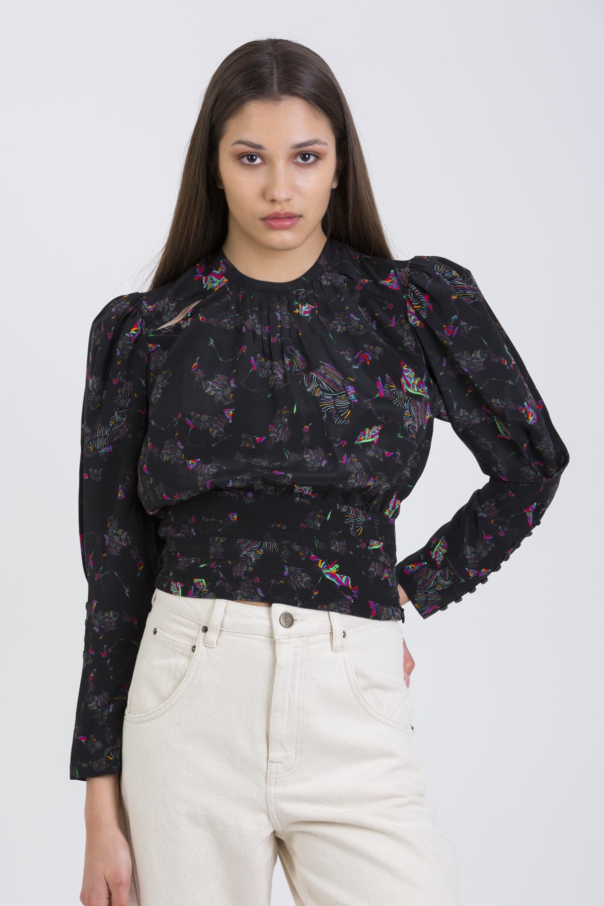lorelli-top-silk-black-iro-puffy-sleeves-matchboxathens