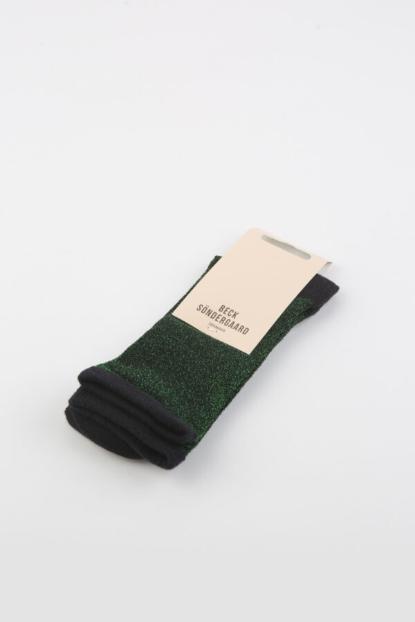dina-solid-glitter-botanical-green-socks-becksondergaard-matchboxathens