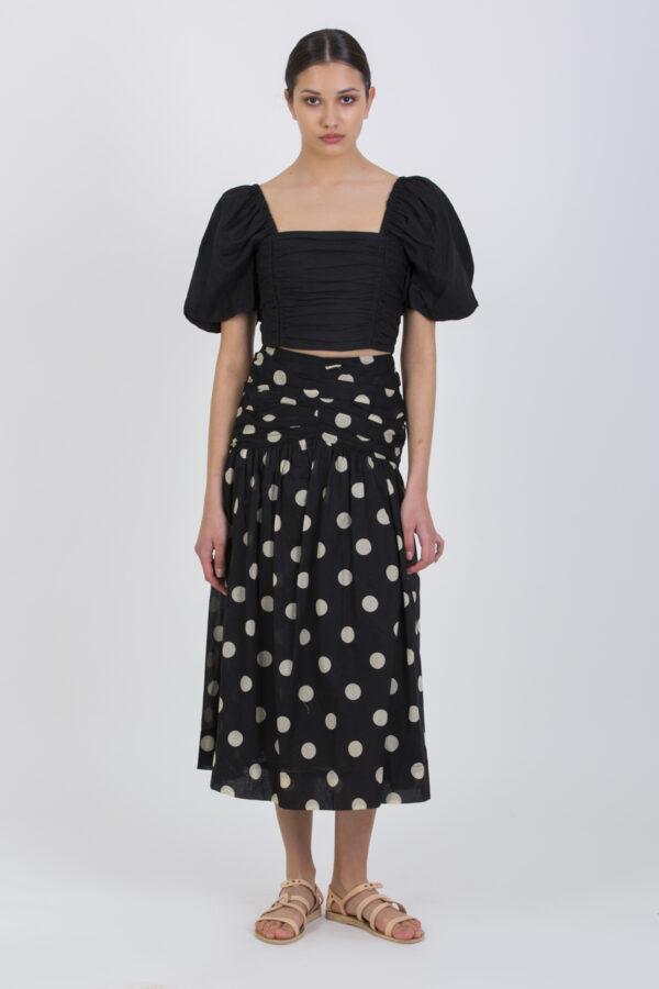 josephine-polka-skirt-gathered-high-waist-bec-bridge-matchboxathens