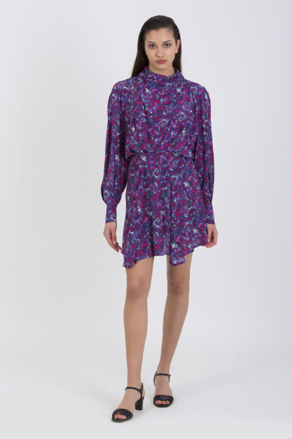 bily-ruby-print-high-neck-viscose-mini-dress-iro-matchboxathens