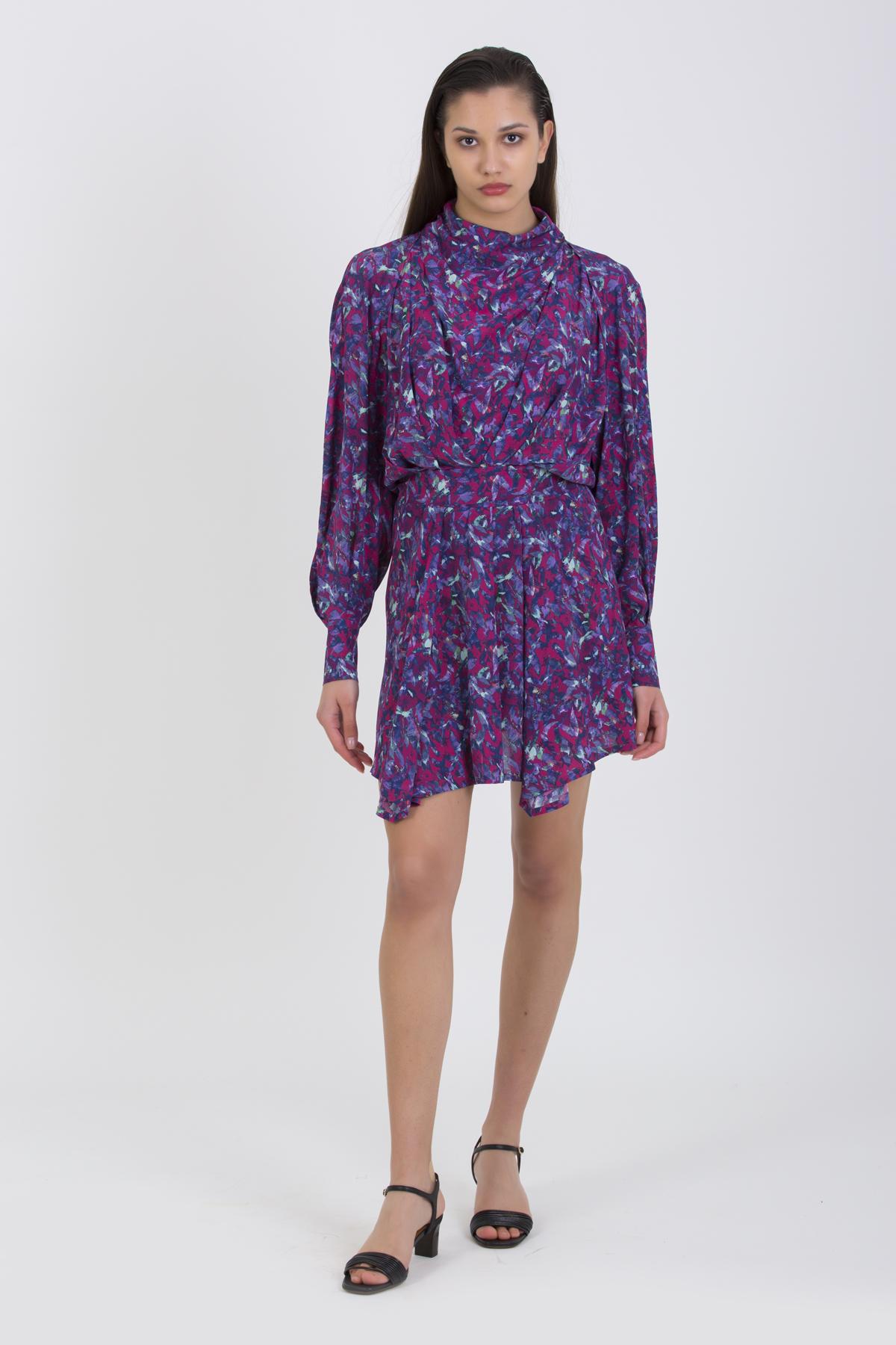bily-ruby-print-high-neck-viscose-mini-dress-iro-matchboxathens