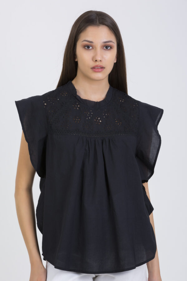 rocio-black-ruffles-embroiered-cotton-maison-hotel-matchboxathens