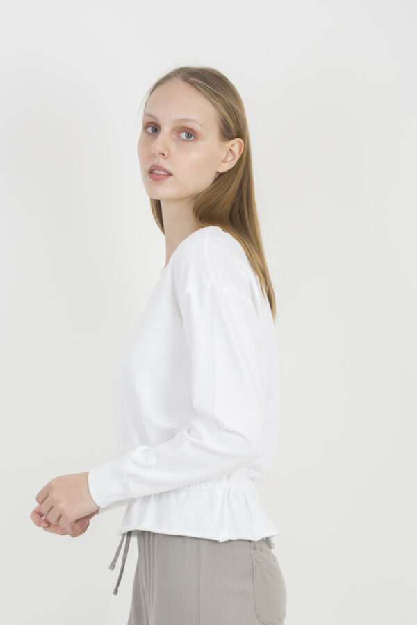 gathered-white-sweatshirt-deha-matchboxathens