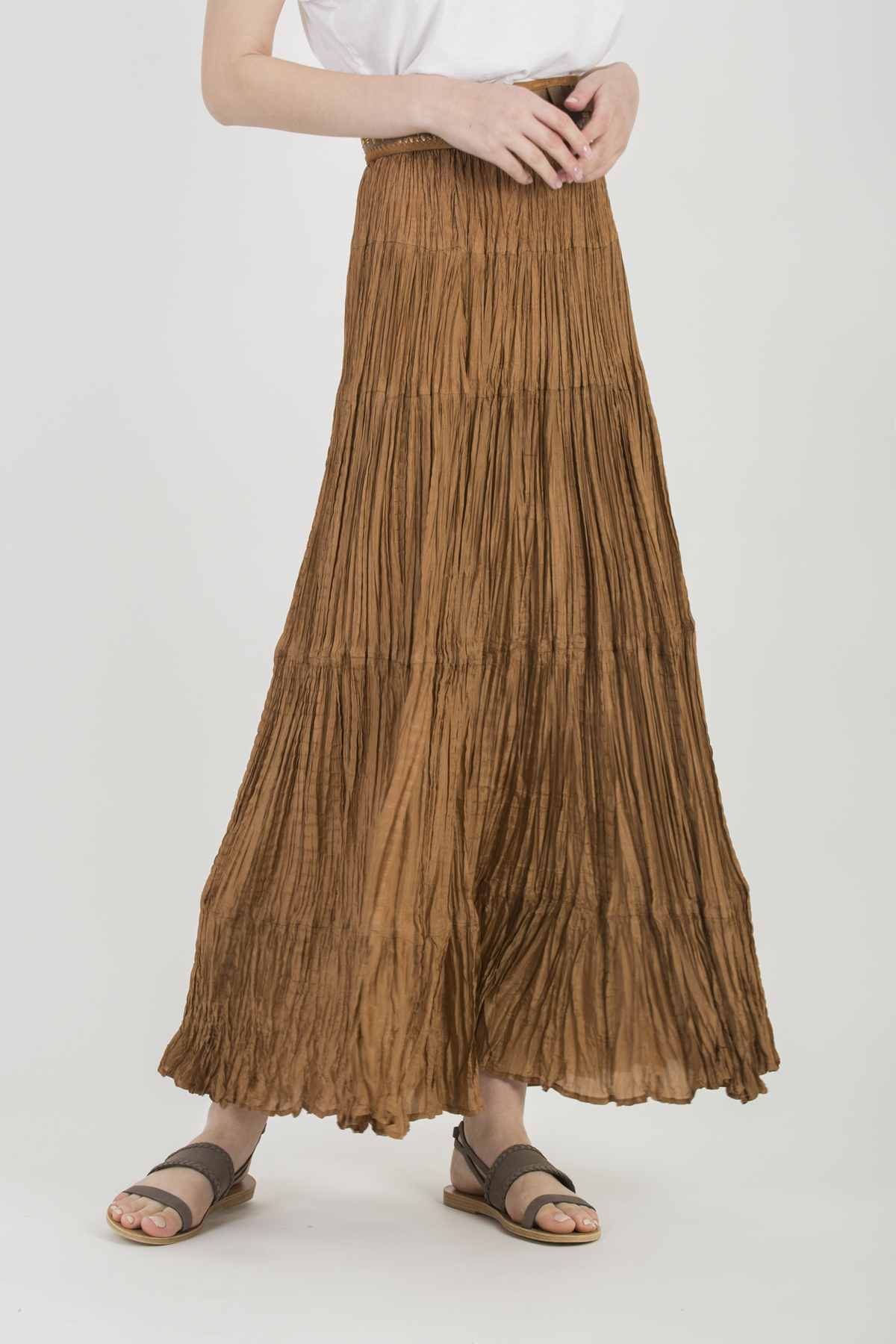 bactriane-skirt-mesdemoiselles-creased-silk-bronze-matchboxathens