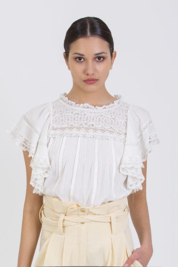 neslie-ivory-romanti-top-ruffles-lace-vanessa-bruno-matchbxoathens