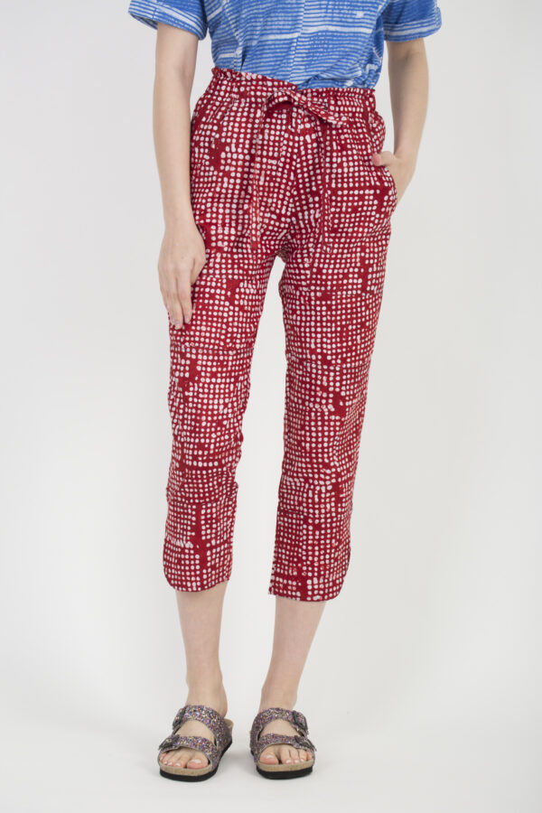 leda-trousers-kimale-red-dot-print-matchboxathens