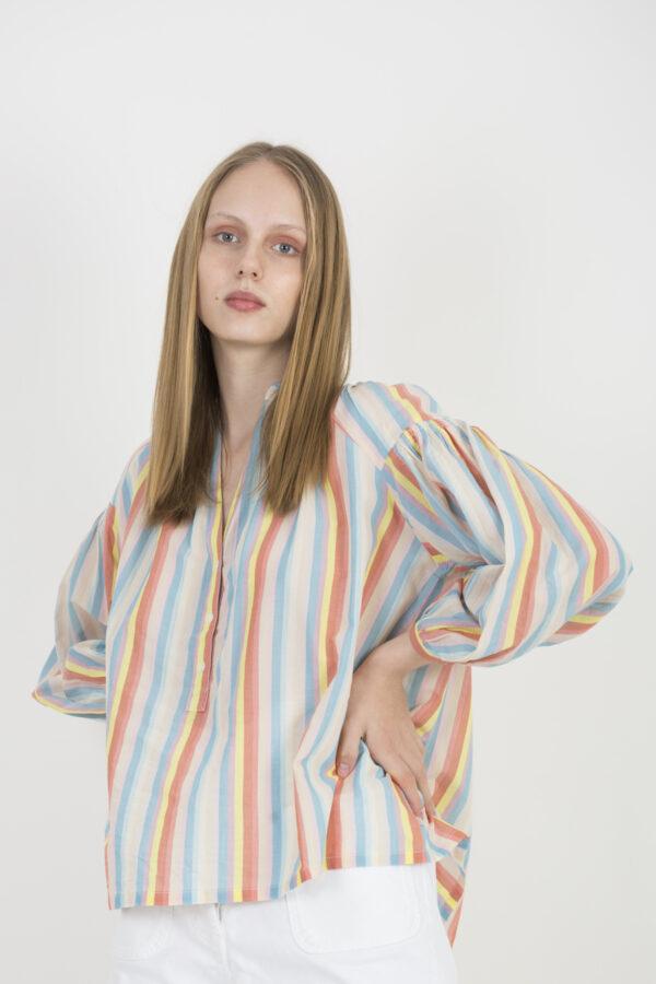 nipoa-triicolor-light-coton-blouse-vneckline-vanessa-bruno-matchboxathens