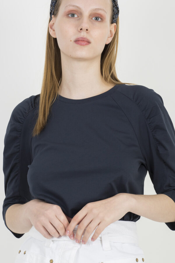 celian-navy-tshirt-puffy-sleeves-bash-cotton-matchboxathens
