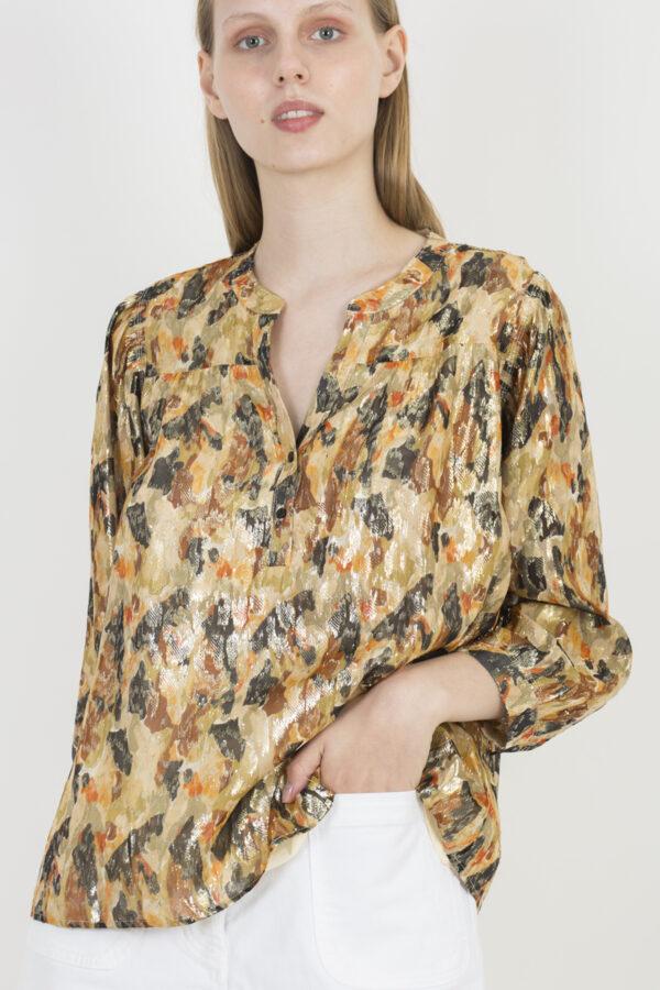 gabi-ochre-silk-metallic-blouse-bash-matchboxathens