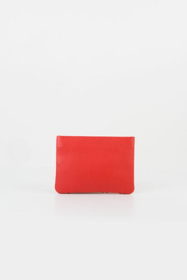 fishbone-coral-red-clutch-chain-leather-park-house-matchboxathens