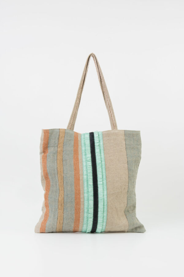 feria-tote-bag-turquoise-linen-rafia-stripe-claramonte-matchboxathens