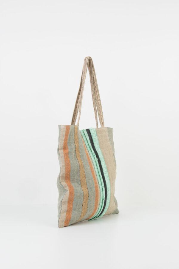 eria-tote-bag-turquoise-linen-rafia-stripe-claramonte-matchboxathens