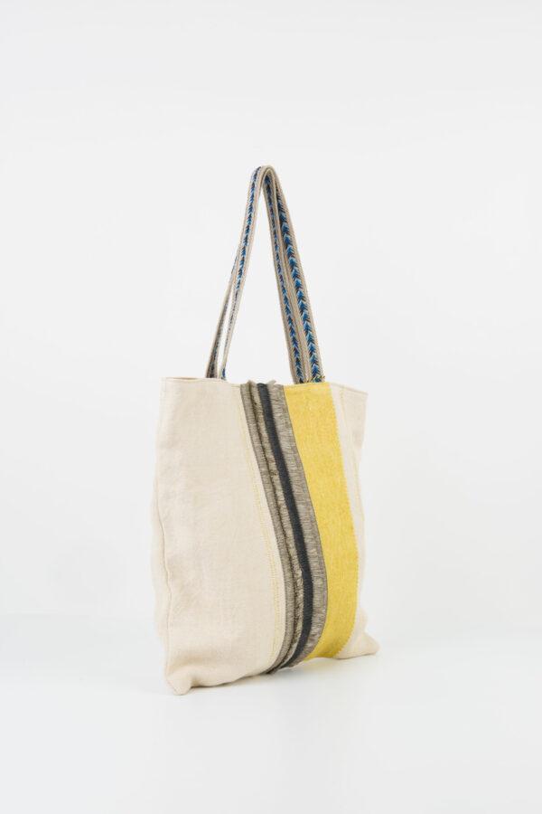 feria-tote-bag-yellow-linen-rafia-stripe-claramonte-matchboxathens