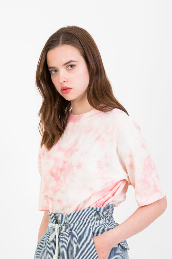 even-tie-dye-coral-tshirt-cotton-berenice-matchboxathens
