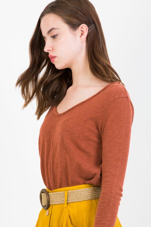 SON02BG-brick-color-tshirt-american-vintage-matchboxathens