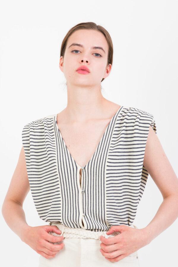 lony-ecru-knit-top-vamp-shoulders-bash-matchbxoathens